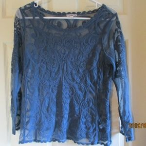 Express Sheer Lace Blouse